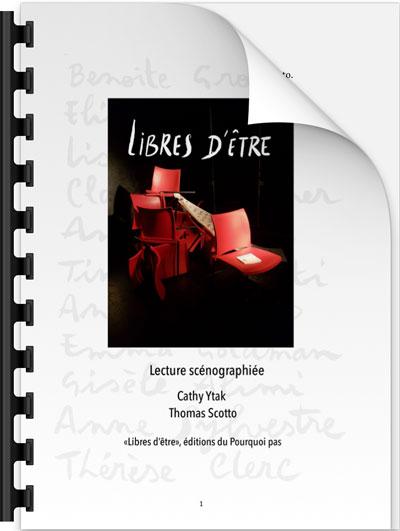 Dossier de présentation de la lecture Libres d'être
