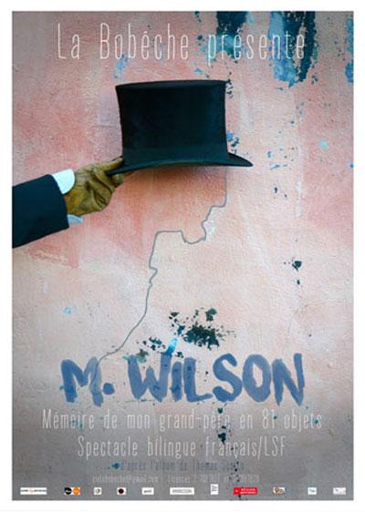 M. wilson, spectacle bilingue français/LSF